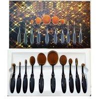 Wholesale Makeup Brushes Set Oval Blending Brush Multipurpose Mermaid Toothbrush Foundation Powder Face Brushes Pro Makeup Tools set