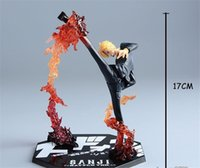 action legging - One Piece Anime Black Leg Sanji Fire Battle Version Boxed PVC Action Figure Model Toy for kids toy toys
