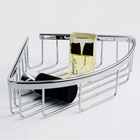 bathroom wall hung - Genuine stainless steel bathroom hanging basket rack hanging shelf rack single triangle shower basket corner wall frame