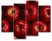 apple picture frames - LK4219 Panle Canvas Oil Paintings Apple Fruit Wall Art Photo To Oil Painting For Living Room Paintings For Home Decor Unframed Unframed