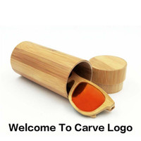 Wholesale high range handmade glasses wood box round shape bamboo sunglasses case eyewear container