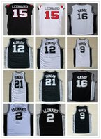 Wholesale 2016 Sport Jerseys Kawhi Leonard Lamarcus Aldridge Tony Parker Manu Ginobili David Robinson Pau Gasol Black White