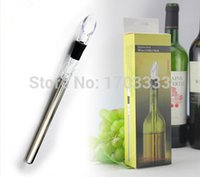 Wholesale Wine Bottle Cooling Chill Coolers Ice Cool Freezer Stick Rod and Pourer Stainless Steel Wine chillers Coolers Freezer
