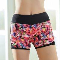 Wholesale 2016 Women Running Sport Leggings Fitness Yoga Pants High Waist Leggings Fashion Colors Elastic Sports Trousers Gym Clothes Yoga Shorts