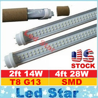 ac chips - 2ft ft Led T8 Tubes Light Double Rows smd2835 Chips W W T8 Led Tubes Warm Cold White AC V
