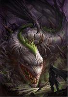 american buyers - Buyer custom made Dark Dragon x36 inch Silk Poster wall decor
