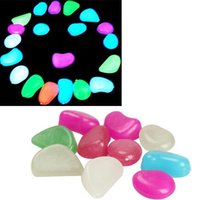 Wholesale 10 Luminous Light emitting Artificial Pebble Stone Fish Tank Decoration HB88