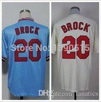 baby cardinals - 2015 Fashion New Cheap Baseball Jerseys Lou Brock Jersey Cream Baby Blue St Louis Cardinals Jerseys