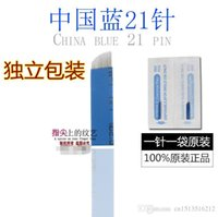 Wholesale 20 Special Chinese Blue streaking Eyebrow blue blade needle Good use of fine Makeup Needles floating Tattoo Needles sharp piece