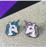 bag gal - Fashion Chic cute enamel unicorn Brooch Pins Party sassy pop new gal coat bag hat gift kids punk animal hip hop goat in