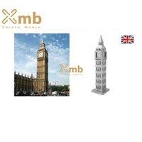 Wholesale 3D Metallic Mini DIY Puzzle Stainless UK London Big Ben Elizabeth Tower