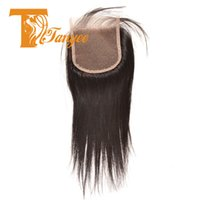 Wholesale 100 Unprocessed Brazilian Virgin Hair Straight Lace Closure A High Quality Remy Human Hair Top Closure quot quot Natural Color