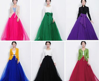 Wholesale Hot Sale Fashion Women Ladies Female Long Tulle Gauze Skirts Elegant Prom Party Wedding Elastic Waist Solid Black Red Beige Purple