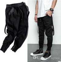 Wholesale Dark wind military high street micro bomb after the pocket bag hanging upon jogging pants Mens Europe tide brand new fashion