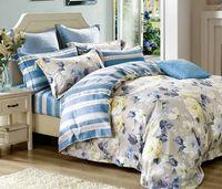 aqua blue comforter sets - 4pcs Bedding Sets Cotton Bedding Sets with Graceful Patterns for Bed Rome at Home