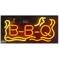 RGB b q lights - B B Q Glass DIY LED Neon Sign Flex Rope Sign Light Indoor Outdoor Decoration RGB Voltage V