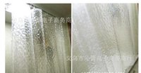Wholesale 2016 Manufacturer of spot Hang down feeling good easy to clean Thickening of d water cube PEVA shower curtain Three color optional