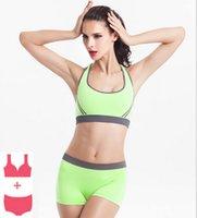 Wholesale Newest Running Shorts With Sports Bra Yoga Clothing Suits Set Fitness Clothing Vest Tracksuit Set Sportswear Workout Set