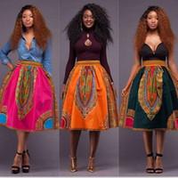 Wholesale 2016 New Style African Womens Skirt Girl Printed Dashiki Asymmetrical hight Waist Skirt Traditional wax print batik pure cotton skirt