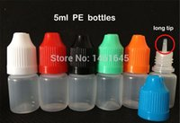 Wholesale 1000PCS ML PE Plastic Dropper Bottle With Childproof Cap Tip ml LDPE Plastic Eye Dropper Bottle