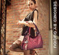 Cheap Realer Brand designer handbag female PU leather hollow out bags handbags color gradient tassel bag ladies portable shoulder bag
