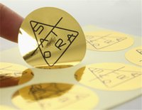 Wholesale 1000pcs Custom Glossy Gold Waterproof Stickers Shinny Products Instructions Description Adhesive Stickers