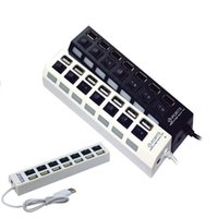 Wholesale by DHL or EMS pieces Hot Sale Port High Speed USB HUB ON OFF Sharing Switch For Laptop PC Black White
