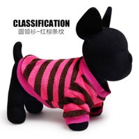 Wholesale petcircle new arrivals pet dog collar coral fleece stripe clothing Teddy pet dog clothing Pelle VIP clothes