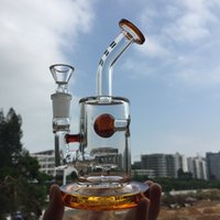 amber stocks - Mini Bullber Glass Jet Perc ball water pipes Bubbler Mini Rig High Quality with Lower Price in Stock Amber DGC1316