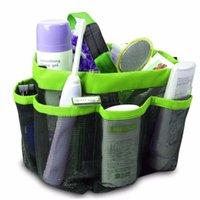 bathing shower doors - 2016 New Brand Mesh Fabric Quick Dry Shower Tote Storage Bag Bath Organizer Handbag For Bathing Bathroom Accessories Colors