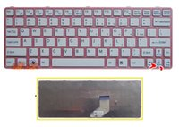 Wholesale Brand New US Keyboard white for SONY SVE SVE11 A11T CP with frame laptop