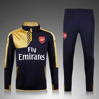 american mens suits - Arsenal training suit soccer training suit mens long sleeve football training suit men tracksuits gold sports tracksuit