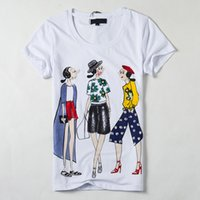 Wholesale Women Cartoon Printing Brand t shirt The Summer Casual Short t shirt Harajuku Tees t shirt women camisetas mujer