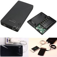Wholesale Universal V V V x Dual USB Portable External Power Bank Battery Charger Box Case For iPhone S For Samsung Note