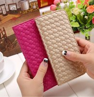 ans organizers - wholesale2016 Spring new ladies leather purse fashion genuine cow leather thin wallet women s weave pattern bi fold wallets ANS PL