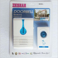 Wholesale 2016 Modern Portable Wireless Doorbell with Ring Tones Tune Cord Song Mini Door Room Office Gate Bell Doorbell Remote Control