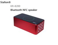 Wholesale KR Aluminum Metal Bluetooth Speaker LED Touch Screen Handsfree Subwoofer D Surround Support TF Card FM W NFC Function