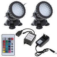 accessories for pool - Underwater LEDs W V Waterproof IP68 Submersible Light Spot Light RGB for Aquarium Garden Pond Pool Tank Accessories DHL H15114