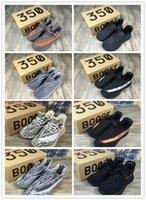 aa orange - New Arrive Grey Orange Kanye West Boost V2 Black White Running Casual Shoes AA High Quality Size US Sneakers