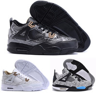 Wholesale Newest s Snakeskin Mens Basketball Shoes s Black White Leopard Leather Sports Shoes High Quality Running Shoes With Box