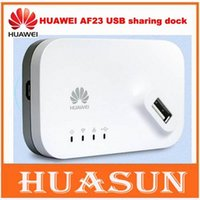 Wholesale Original unlocked HUAWEI AF23 G LTE G USB Sharing Dock Router Ethernet WiFi Hotspot Access Point