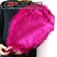 Wholesale High Quality ZPDECOR Handpicked cm inch Well Packaged Bulk Dyed Hot Pink Ostrich Feathers for Sale