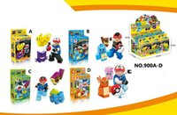 ash bricks - Pokemons building blocks Pikachu Charmander Bulbasaur Squirtle Ash Ketchum Minifigures kids toys action figure Poke Bricks