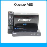 Wholesale Original Openbox V8S satellite receiver V8 support xUSB USB Wifi WEB TV Cccamd Newcamd YouTube Biss Key