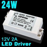 Wholesale 12V A W Led Power Supply LED Driver AC DC adapter V V Power Supply Lighting Transformer for LED Lamp Strip V V