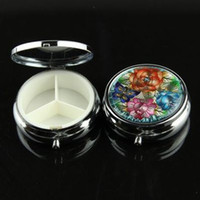 Wholesale per m cm cm Metal Pill boxes Case flower design DIY Medicine Organizer Container Medicine Case Silver Color