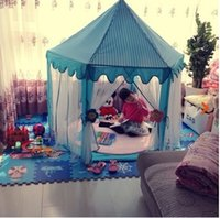 Wholesale Pink Blue Green kawaii lace Child tent floor play mat game toy house toy princess children brinquedos indoor baby tent kids castle tent