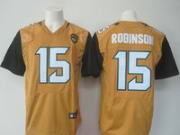Wholesale 2016 Newest robinson black Yellow Football Jerseys Drop Shipping Top Quality Hot Selling Accept Mixed orders Stiched Logos