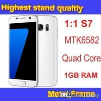 Wholesale S7 Clone Phones MTK6582 Quad Core Phone Show Octa Core Built in GPS A GPS Smartphone g Network Mobile Phone DHL Free
