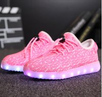 big green help - New Big Size USB LED Shoes Men Women Glowing Fashion Light Shoes Flats Low to help Adults Lumineuse Shoes